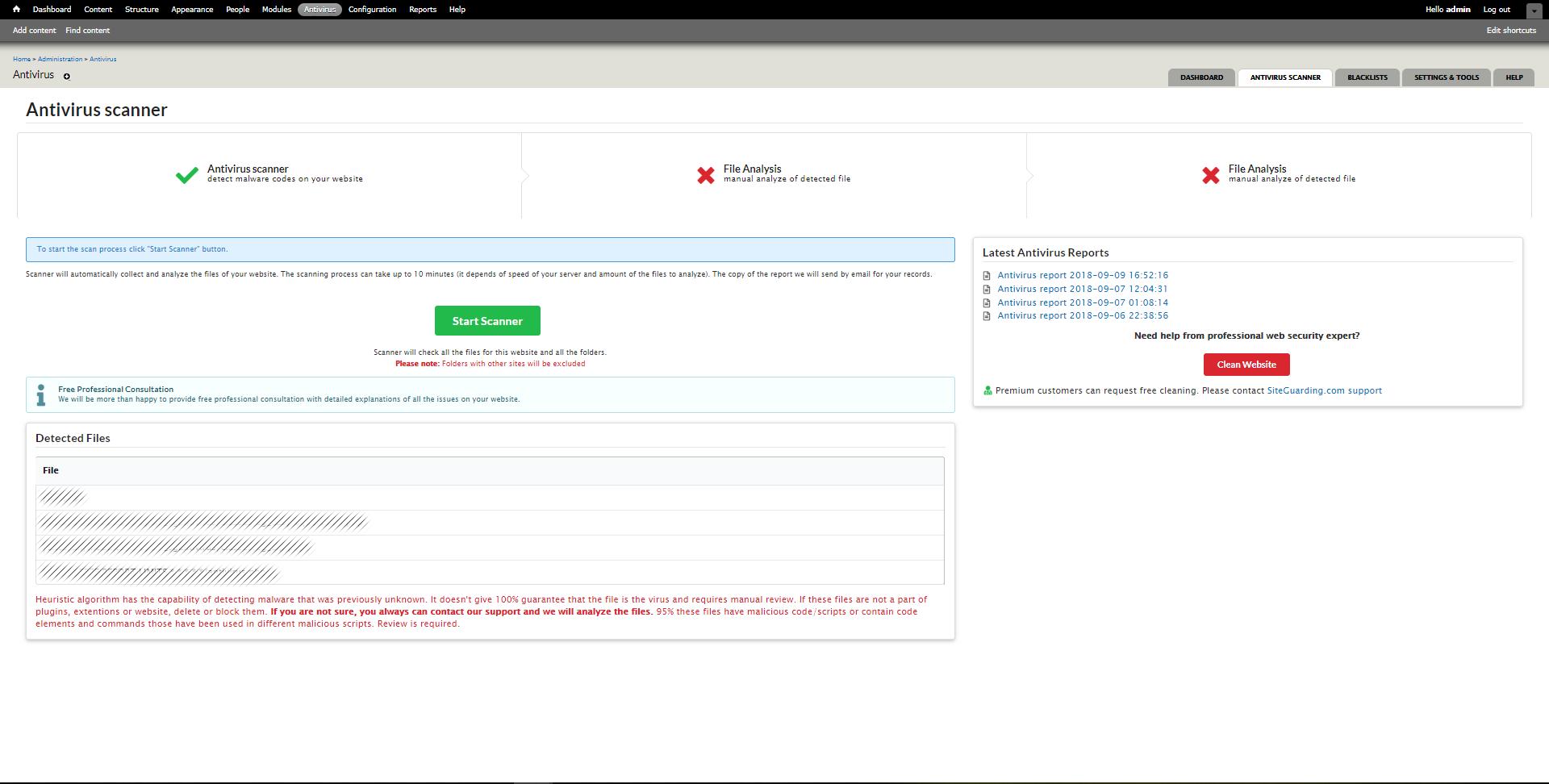 Drupal Antivirus Website Protection   SiteGuarding