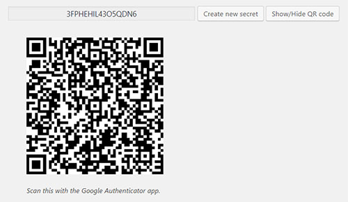 QR Code Two-factor authentication